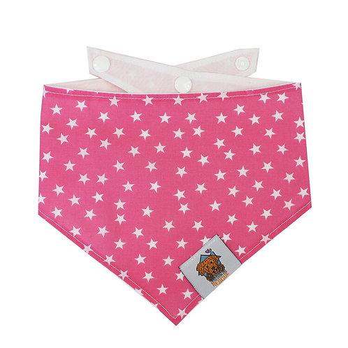 Pink Star Dog Bandanna