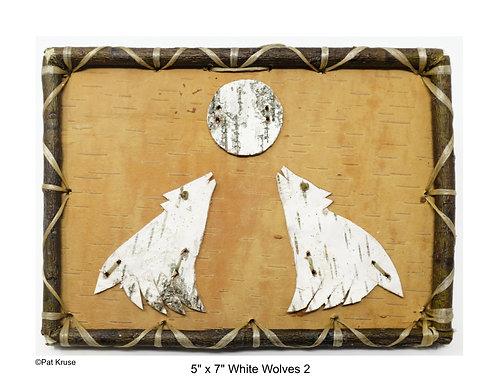 """White Wolves 2 - 5"""" x 7"""""""