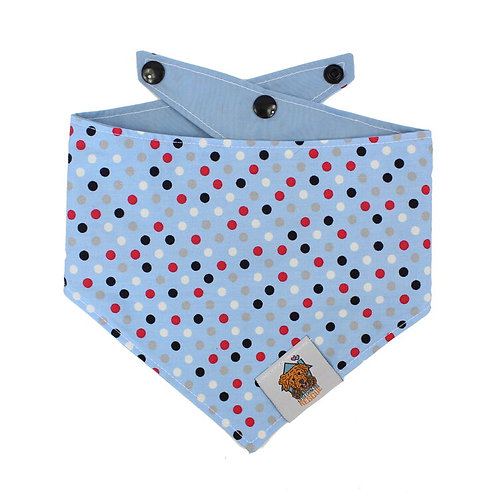 Blue Spotty Dog Bandanna