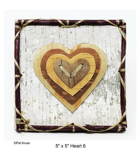 """Heart 6 - 5"""" x 5"""""""