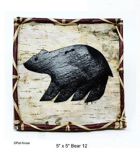 """Bear 12 - 5"""" x 5"""""""