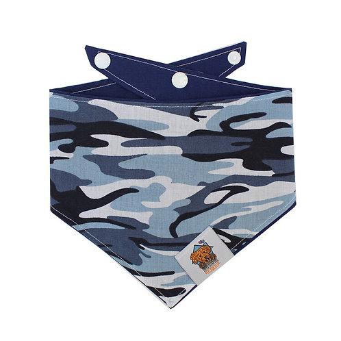 Blue Camo Dog Bandanna