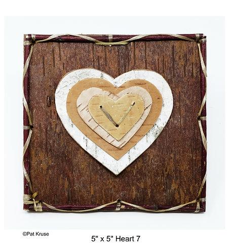 """Heart 7 - 5"""" x 5"""""""