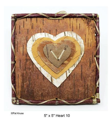 """Heart 10 - 5"""" x 5"""""""