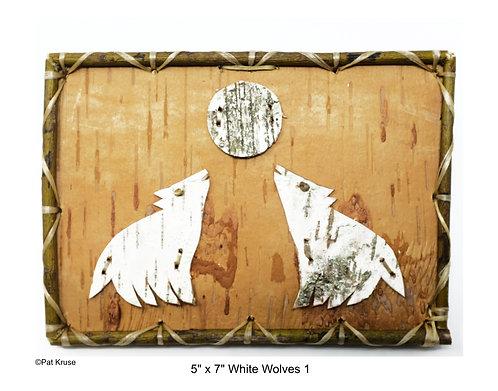 """White Wolves 1 - 5"""" x 7"""""""