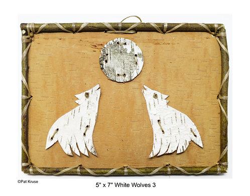 """White Wolves 3 - 5"""" x 7"""""""