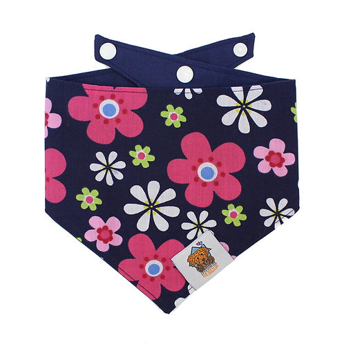 Blue Floral Dog Bandanna