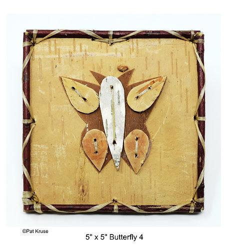 """Butterfly 4 - 5"""" x 5"""""""