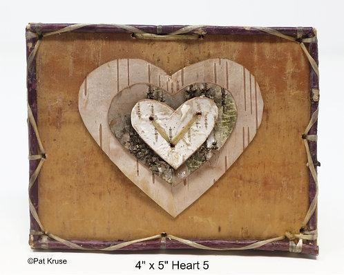 """Heart 5- 4"""" x 5"""""""