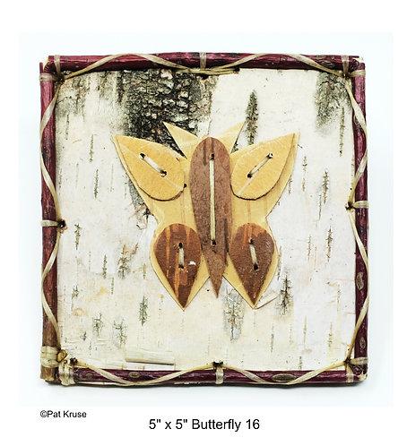 """Butterfly 16 - 5"""" x 5"""""""
