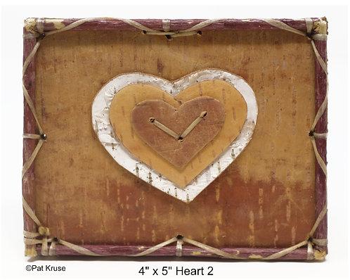 """Heart 2- 4"""" x 5"""""""
