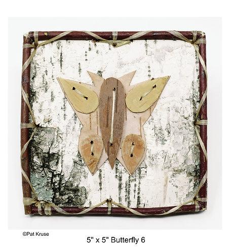 """Butterfly 6 - 5"""" x 5"""""""