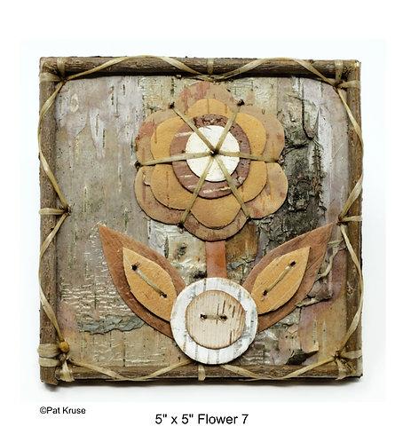 "Flower 7 - 5"" x 5"""