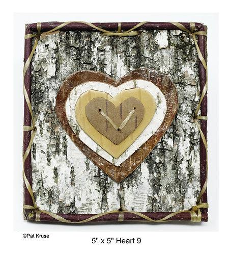 """Heart 9 - 5"""" x 5"""""""