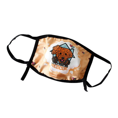 Little China Dog Rescue Fabric Face Mask With Filter Pocket