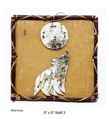 """Wolf 3 - 5"""" x 5"""""""