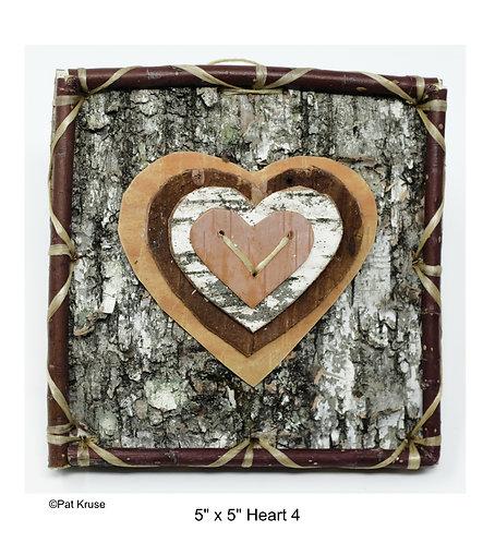 """Heart 4 - 5"""" x 5"""""""