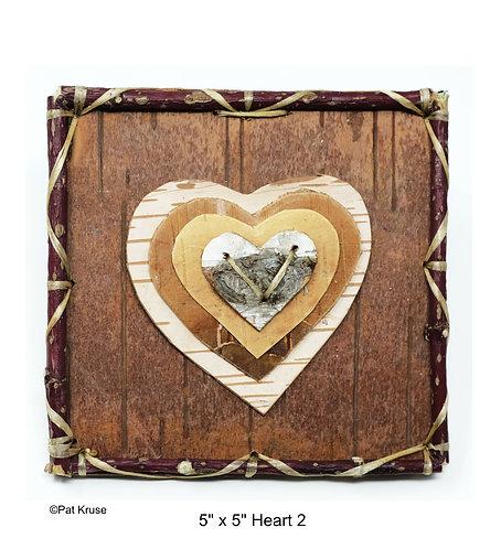 """Heart 2 - 5"""" x 5"""""""