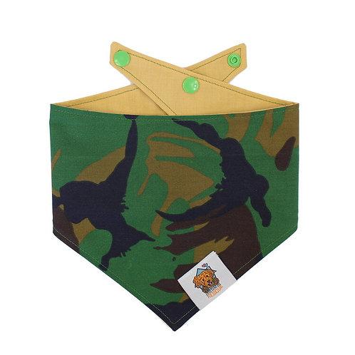 Green Camo Dog Bandanna