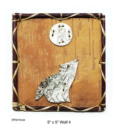 """Wolf 4 - 5"""" x 5"""""""