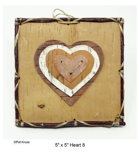 """Heart 8 - 5"""" x 5"""""""