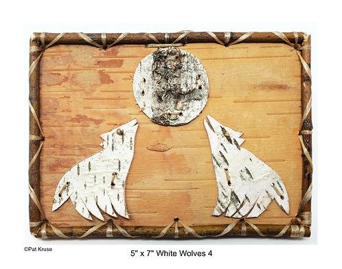 """White Wolves 4 - 5"""" x 7"""""""