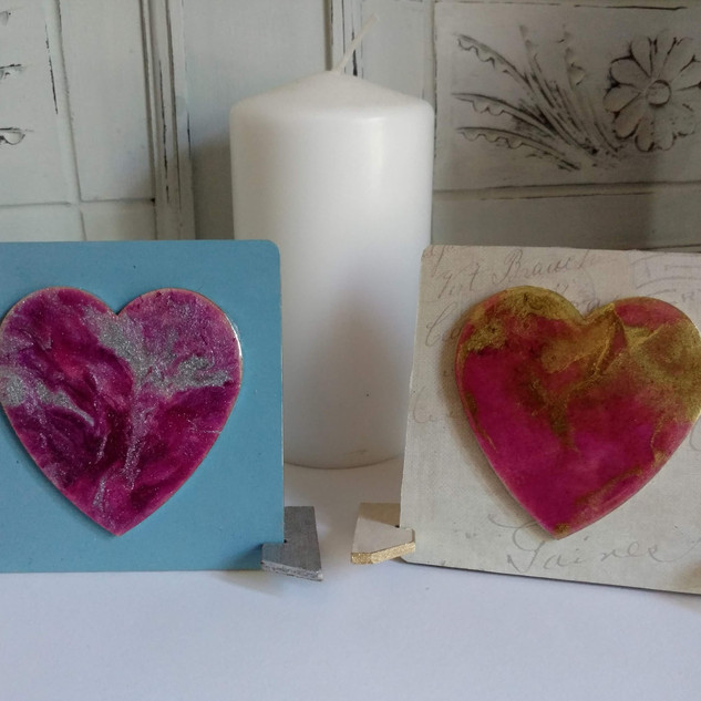 hearts with border