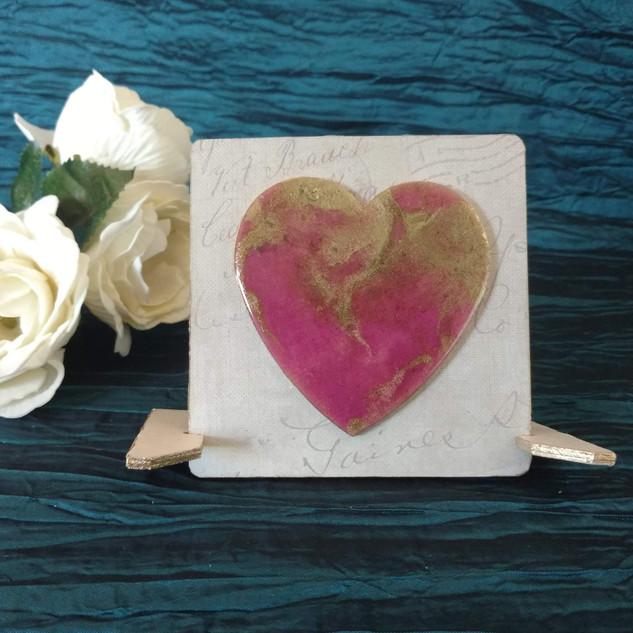 purple gold heart