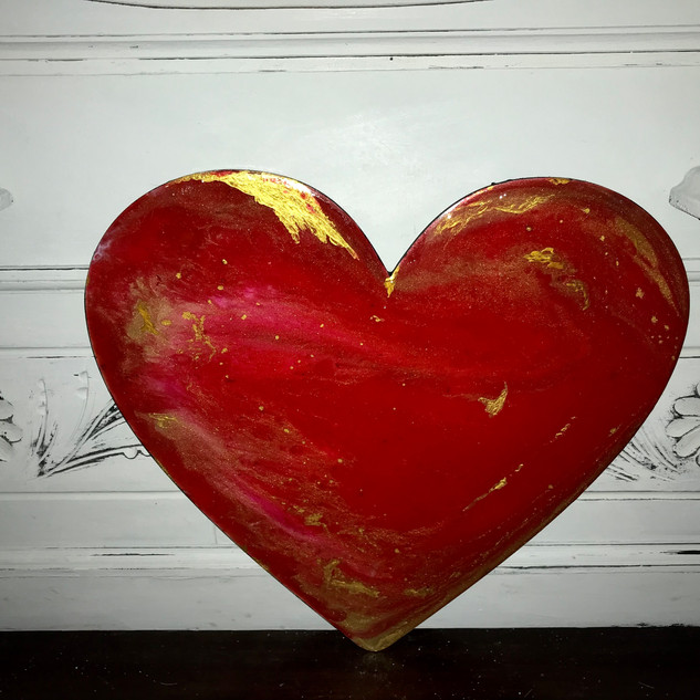red gold heart