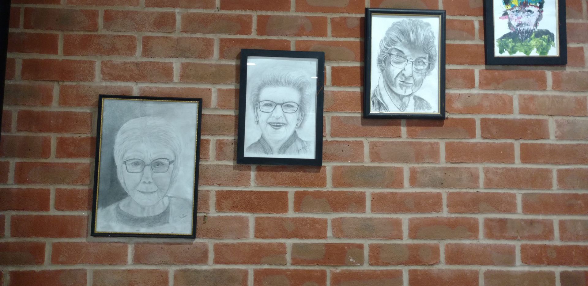 The finished portraits