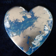 blue silver heart