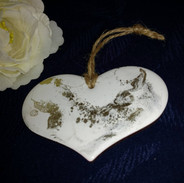 white gold heart