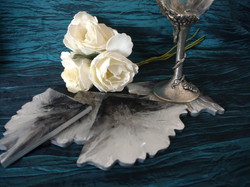 black, white and silver coasters