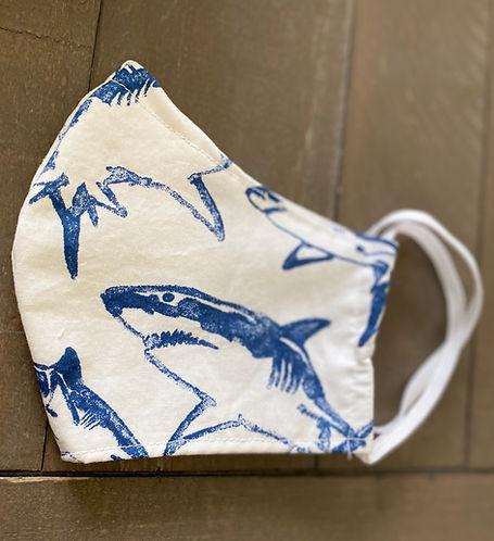 cloth face mask shark