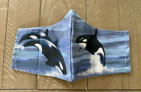 cloth face mask orca killer whale
