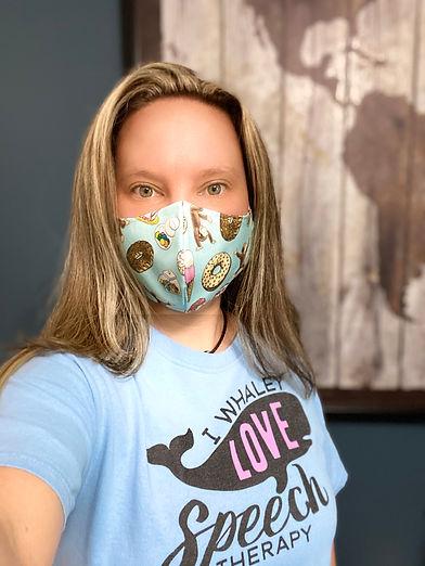 Christina Barringer Curious George Cloth Face Mask