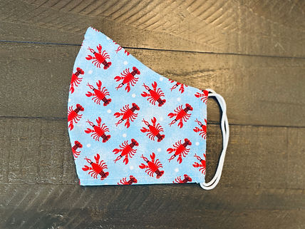 lobsters cloth face mask