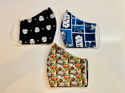 Star wars storm troopers baby yoda cloth face mask