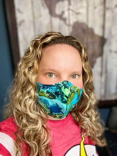 Christina Barringer turtle cloth face mask