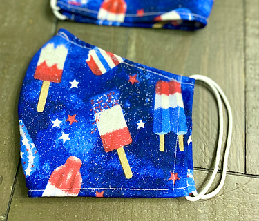 Patriotic popsicle cloth face mask