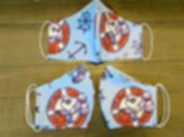 mickey minnie sailing cloth face masks