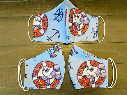 mickey minnie sailing cloth face masks