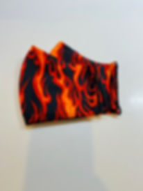 fire flames cloth face mask