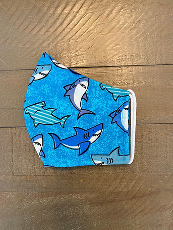 sharks cloth face masks