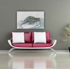 Green sea turtle, FL: DIGITAL ART