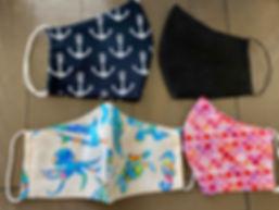 cloth face masks anchors sea-life mermaid scales