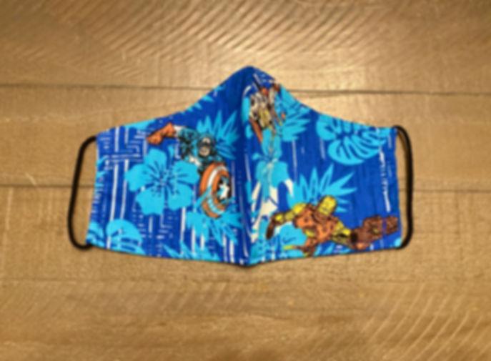 tropical marvel superhero cloth face mask