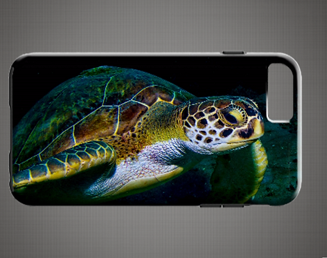 Green Turtle Phone Case for iPhone's