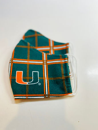 university of miami UM cloth face mask