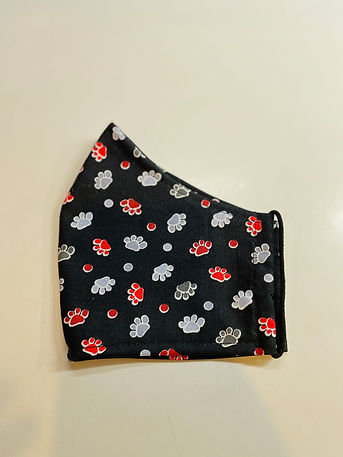 paw print cloth face mask